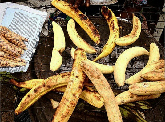 Roasted plantain